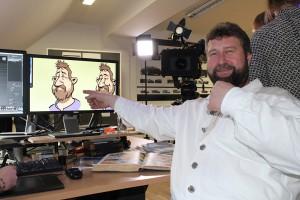 Richard freut sich über sein digitales Abbild.